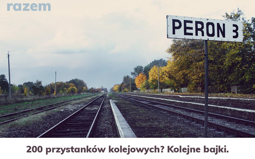 Dwieście przystanków kolejowych - niemożliwe