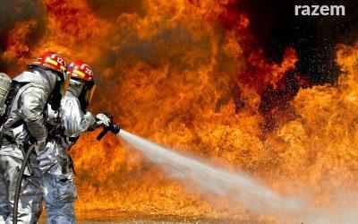Pożar składowiska odpadów na Majdanach w Kutnie