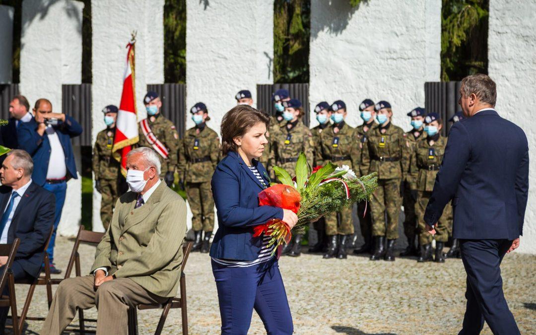 obchody 81. rocznicy bitwy nad Bzurą - Kutno - złożenie kwiatów