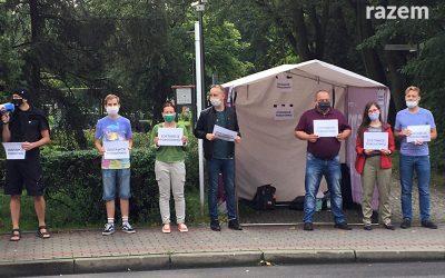 Protest przeciwko likwidacji porodówki
