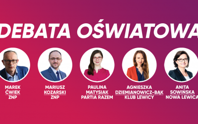 Debata o edukacji z udziałem ZNP i posłanek Lewicy w Kutnie
